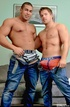 Two beefy guys have a great time just teasing and…