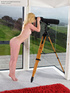 This lovely blonde peeping tom gets a sexual high…
