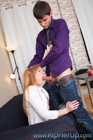 Young boss fucking his pretty ginger sec - XXX Dessert - Picture 3
