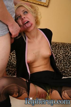Blonde slut getting her leggings torn an - XXX Dessert - Picture 17