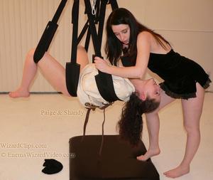 Chubby bitch flogging slim teen hung upside down - XXXonXXX - Pic 1