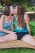 Two cute hot lesbians with hairy pussies enjoy hot…