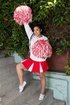 Cute cheerleader is happy to remove clothes to…