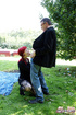 Horne old hotshot screwing cutie publicly outdoors…