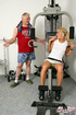Gorgeous teenager fucking her older gym trainer…