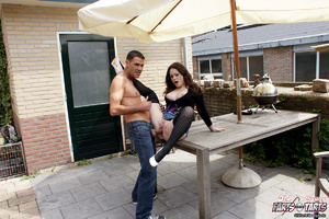 Horny dude banging a cute much younger b - XXX Dessert - Picture 7