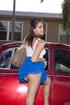 Cool upskirt shots with sweet brunette teen chick