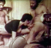 Horny sweetie banged by two guys in the seventies…