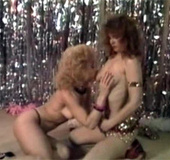 Pretty daring sexy retro chicks banged on stage…
