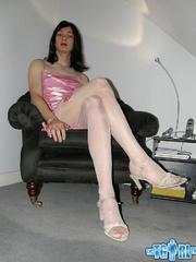 Pretty in glossy pink dress as an alluring - XXX Dessert - Picture 5