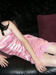 Pretty in glossy pink dress as an alluring - XXX Dessert - Picture 11