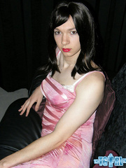 Pretty in glossy pink dress as an alluring - XXX Dessert - Picture 12