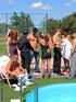 Poolside reception ends with bi cocks spraying cum