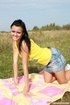Outdoor tanning session turns on teen girl
