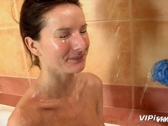 Babe in bath washes herself with hot piss before - XXXonXXX - Pic 11