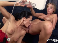 Naughty lesbian girls spray piss indoors and lick - XXXonXXX - Pic 12