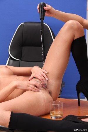 Office blonde gets drenched with piss and she pisses in friend's mouth - XXXonXXX - Pic 14