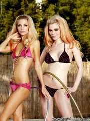 two hot blondes having