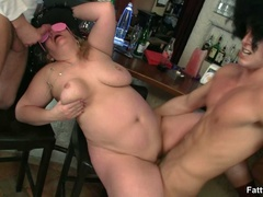 Party turns wild as three fat babes enjoy real wild BBW - Picture 15