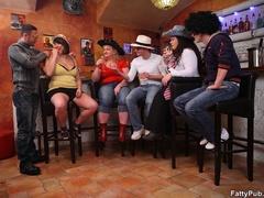 Fun loving fat girls go wild in hot BBW action sucking - Picture 2