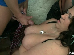 Fat chicks with big tits in hot BBW action sucking, - Picture 16