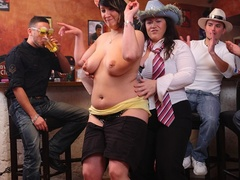 Fat chicks party wild and have fun as they suck cock and - Picture 6