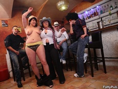 Fat chicks party wild and have fun as they suck cock and - Picture 7