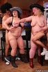 Juicy fat chicks suck cock as their tits is sucked…