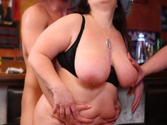 Juicy fat chicks suck cock as their tits is sucked and - Picture 14