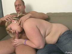 Fat chick engages guy in big tits licking and cock - Picture 7