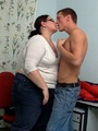 Fat horny lady sucks cock hungrily - Picture 4