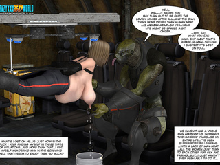 Awful monster torturing and milking busty - Cartoon Sex - Picture 2