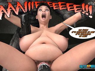 Huge monsters with enormous dick fucking - Cartoon Sex - Picture 4