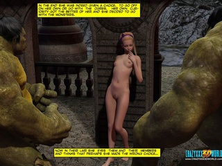 Two huge green orcs pounding hard petite - Cartoon Sex - Picture 1
