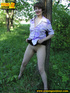 Nature lover takes off panties and raises short…