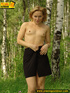 Hot looking blonde loves nature and goes nude to…