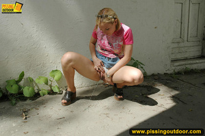 Naughty girl pissing right outside by house after not being able to get inside - XXXonXXX - Pic 6