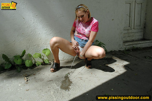 Naughty girl pissing right outside by house after not being able to get inside - XXXonXXX - Pic 8