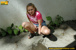 Naughty girl pissing right outside by house after not being able to get inside - XXXonXXX - Pic 16
