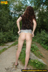 Girl taking a walk decides to strip off to piss on…