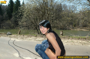 Slim tall chick with sexy booty expose ass to bend down to piss out on the road - XXXonXXX - Pic 10