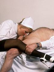 Classic blond nurse seduces horny old - XXX Dessert - Picture 1