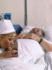 Classic blond nurse seduces horny old - XXX Dessert - Picture 6