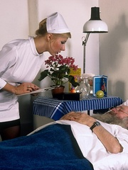 Classic blond nurse seduces horny old - XXX Dessert - Picture 9