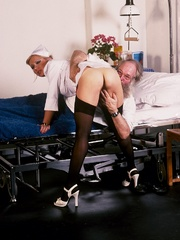 Classic blond nurse seduces horny old - XXX Dessert - Picture 10