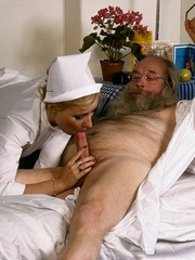 Classic blond nurse seduces horny old - XXX Dessert - Picture 12