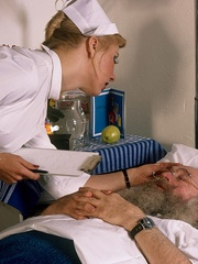 Classic blond nurse seduces horny old - XXX Dessert - Picture 15