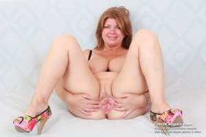 Hot momma with big tits spreads legs to show pussy and play with long pink dildo - XXXonXXX - Pic 12