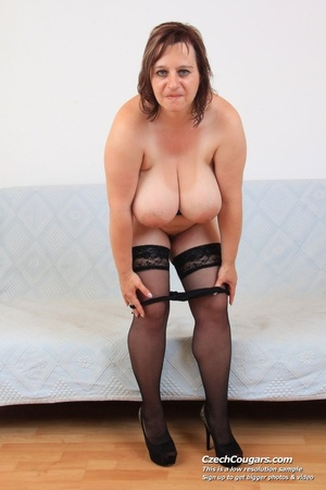 Cute momma with big bouncy tits opens up to reveal pussy as she sticks in dildo - XXXonXXX - Pic 10