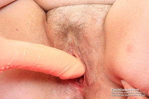 Horny grandma feeling naughty licks her tits, opens pussy and then sticks in dildo - XXXonXXX - Pic 4